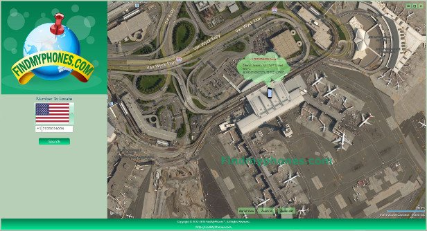 FindMyphones Screenshot John F. Kennedy International Airport (JFK)