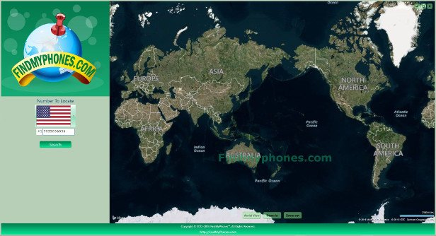 FindMyphones Screenshot world map