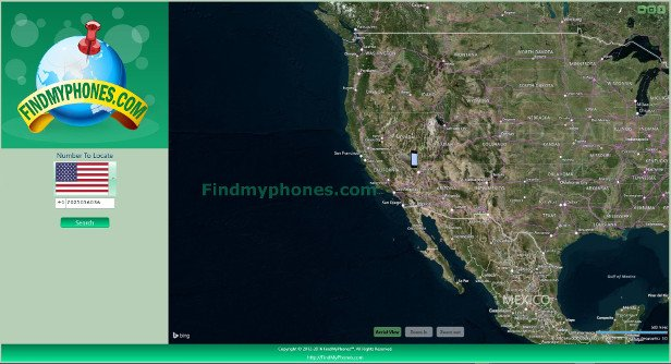 FindMyphones Screenshot East United states, Las Vegas